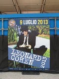 Leonard Cohen stage before the concert in Lucca, 9 July 2013 Royalty Free Stock Photos
