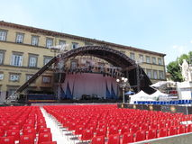 Leonard Cohen stage in Lucca, 9 July 2013 Stock Photo
