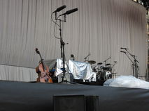 Leonard Cohen stage before show (Lucca 2013) Royalty Free Stock Images