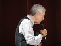 Leonard Cohen żywy w Lucca, 9 2013 Lipiec Obrazy Stock