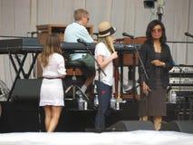 Leonard Cohen, zum des neuen Albums im Jahre 2014 freizugeben Stockfotografie