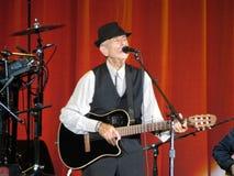Leonard Cohen, zum des neuen Albums im Jahre 2014 freizugeben Stockbild
