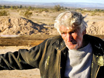 Leonard Knight. The creator of Salvation Mountain. This monument to God's love is located in Niland, California next to Slab City. This site is now protected as Royalty Free Stock Photo