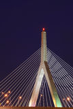 Leonard P. Zakim Bunker Hill Bridge at Night Royalty Free Stock Images
