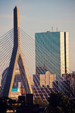 The Leonard P. Zakim Bunker Hill Memorial Bridge Stock Image
