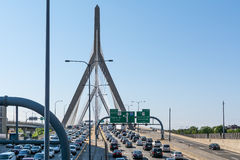 Leonard P. Zakim Bunker Hill Memorial Bridge Stock Photo
