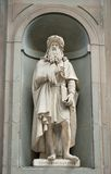 Leonardo. Statue of Leonardo da Vinci at the Uffizi, Florence, Italy royalty free stock photography