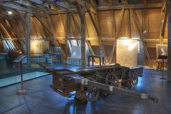 Leonardo Da Vinci巨人石弓 免版税库存照片