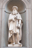 Leonardo da Vinci. In Florence Italy royalty free stock photography