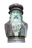 Leonardo Da Vinci. A marble carving of the great inventor and painter, Leonardo Da Vinci royalty free stock image