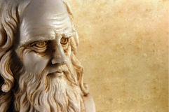Leonardo da Vinci. One of the greatest minds in the humanity royalty free stock photo