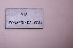 Leonardo Da Vinci Foto de Stock Royalty Free