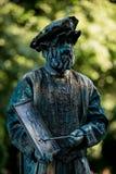 Leonardo Da Vinci Artista austríaco que se realiza durante el festival internacional de estatuas vivas, Bucarest, Rumania, junio  Imagenes de archivo