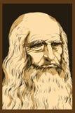 Leonardo Da Vinci autoportret, 1512 Obraz Stock