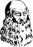 Leonardo Da Vinci/eps royalty free illustration