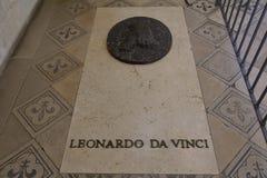 Leonardo Da Vinci górskiej chaty grobowcowy d Amboise, Loire dolina, Francja - strzał Sierpień 2015 Zdjęcia Stock