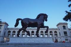 Leonardo da Vinci Horse-Statue in Mailand, Italien lizenzfreies stockfoto