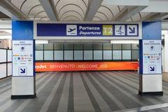 Leonardo da Vinci International Airport Stock Photo