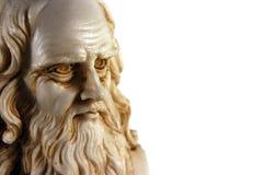Leonardo Da Vinci - isolato Fotografie Stock