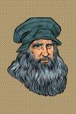 Leonardo da Vinci, italienischer Maler, Erfinder und Bildhauer stock abbildung