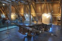 Leonardo Da Vinci jätteCrossbow Royaltyfri Foto