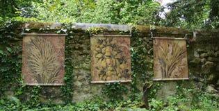 Leonardo da Vinci målningar på Clos Luce i Amboise royaltyfri foto