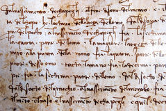 Leonardo da Vinci manuscript. A manuscript of Leonardo da Vinci royalty free stock photo