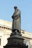 Leonardo Da Vinci, Milan, Italy. Statue of Leonardo Da Vinci, Milan, Italy royalty free stock image