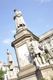 Leonardo Da Vinci monument Stock Photos