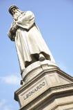 Leonardo Da Vinci monument Royalty Free Stock Photo