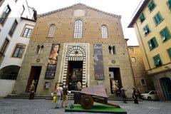 Leonardo da Vinci museum, Florence stad Royaltyfri Fotografi