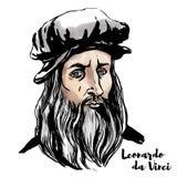 Leonardo Da Vinci portret royalty ilustracja