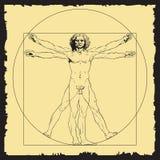 Leonardo Da Vinci `s abgehobener Betrag Lizenzfreie Stockfotos