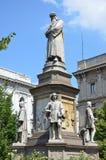 Leonardo Da Vinci. 's statue in Milan - Italy Royalty Free Stock Photo