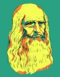 Leonardo da Vinci Self-Portrait 1512 Arkivbild