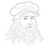 Leonardo Da Vinci. stock illustration