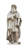 Leonardo Da Vinci statue cutou. Leonardo Da Vinci statue isolated on white with clipping path. Created by Luigi Pampaloni in 1842. For more isolated objects stock photos