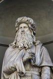 Leonardo da Vinci statue in Florence Royalty Free Stock Photo