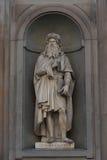 Leonardo Da Vinci. Statue in the Uffizi Gallery, Florence, Tuscany, Italy.  stock image