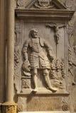 Leonardo da Vinci stone bas in Zagreb Stock Photos