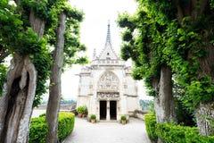 Leonardo Da Vinci tomb in Chateau d`Amboise Stock Photo
