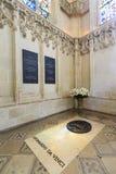Leonardo Da Vinci tomb in Chateau d`Amboise Stock Photography