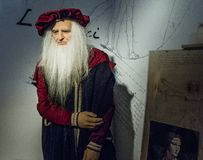 Leonardo da Vinci   wax figure Stock Images