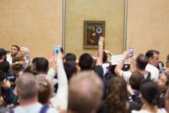 Leonardo DaVinci Mona Lisa w louvre muzeum Zdjęcia Stock