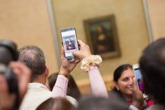 Leonardo DaVinci Mona Lisa w louvre muzeum Obraz Royalty Free