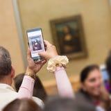 Leonardo DaVinci Mona Lisa w louvre muzeum Zdjęcie Royalty Free