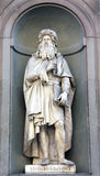 Leonardo Davinci sculpture in Florence Royalty Free Stock Photography