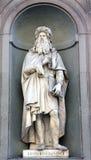Leonardo Davinci sculpture in Florence Royalty Free Stock Photography