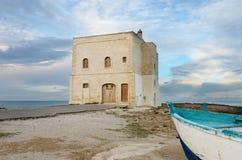 Leonardo di Torre San, Puglia, Italia del sud Fotografie Stock Libere da Diritti