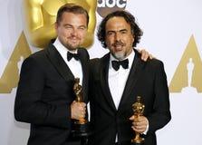 Leonardo DiCaprio and Alejandro Gonzalez Inarritu Royalty Free Stock Photography